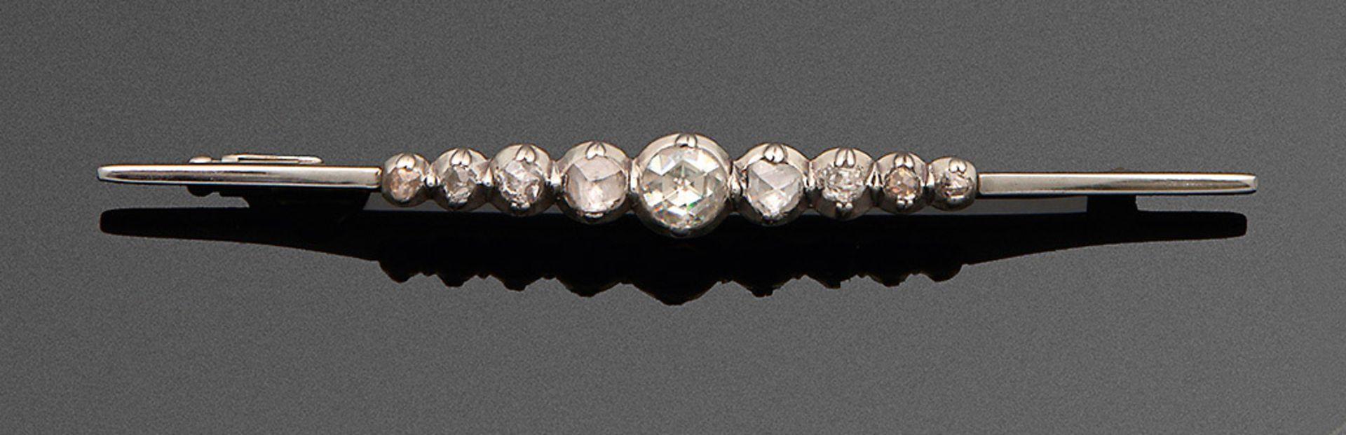 Stabnadel mit Diamantrosen
