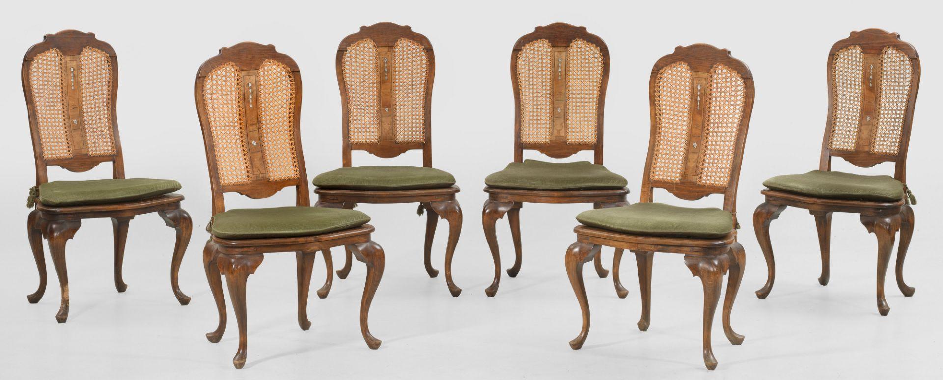 Satz von sechs Barock-Stühlen