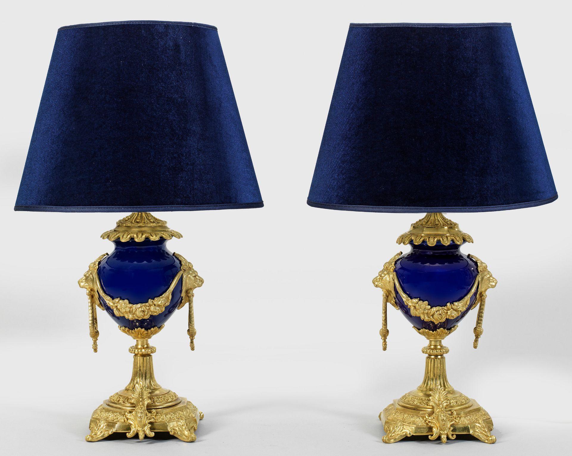 Paar Napoleon III-Tischlampen