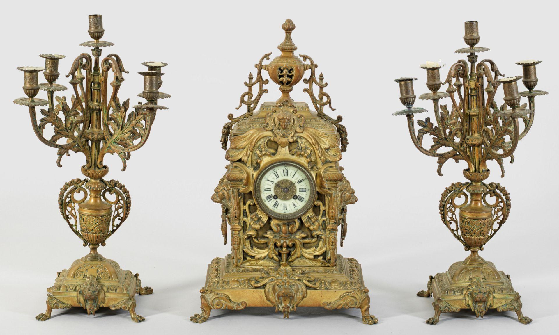 Repräsentative Napoleon III-Uhrengruppe