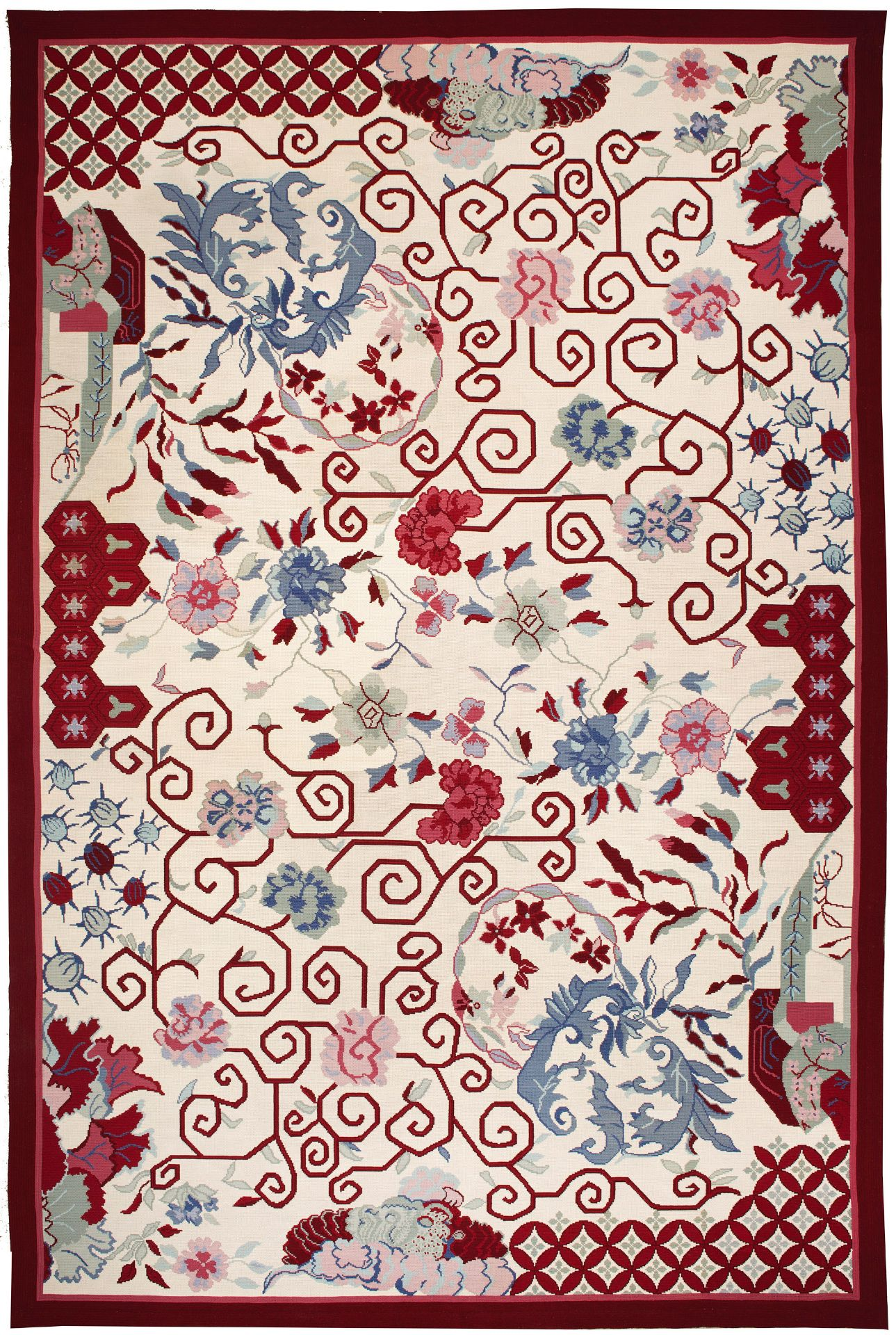 Großer mondäner Teppich im Art Déco -Stil