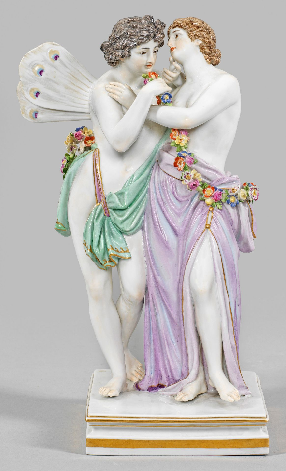"Mythologische Figurengruppe ""Zephyr und Flora"""