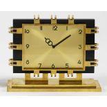 Mondäne Art Déco-Uhr aus den 1950er Jahren