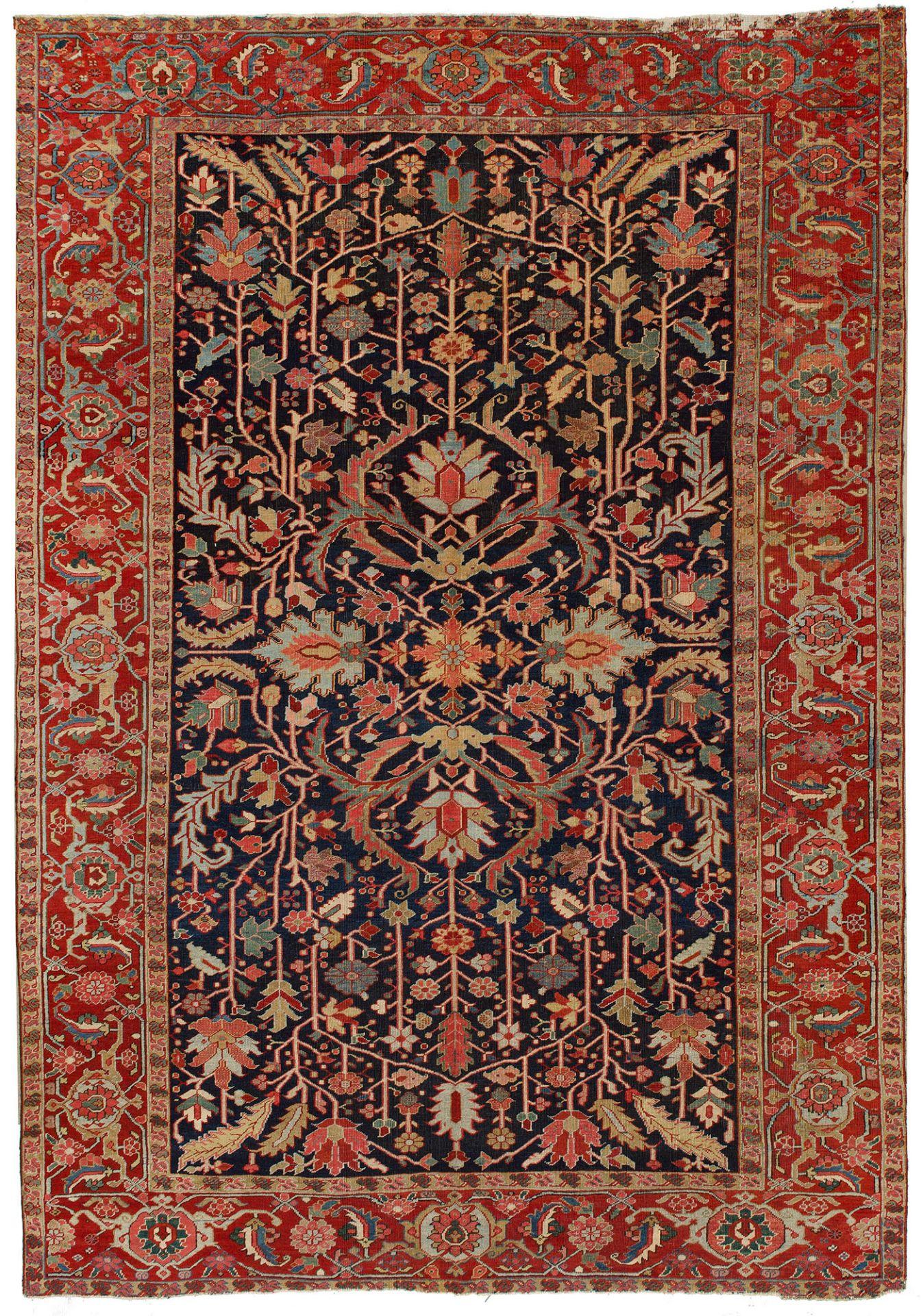 Großer antiker Heriz-Teppich