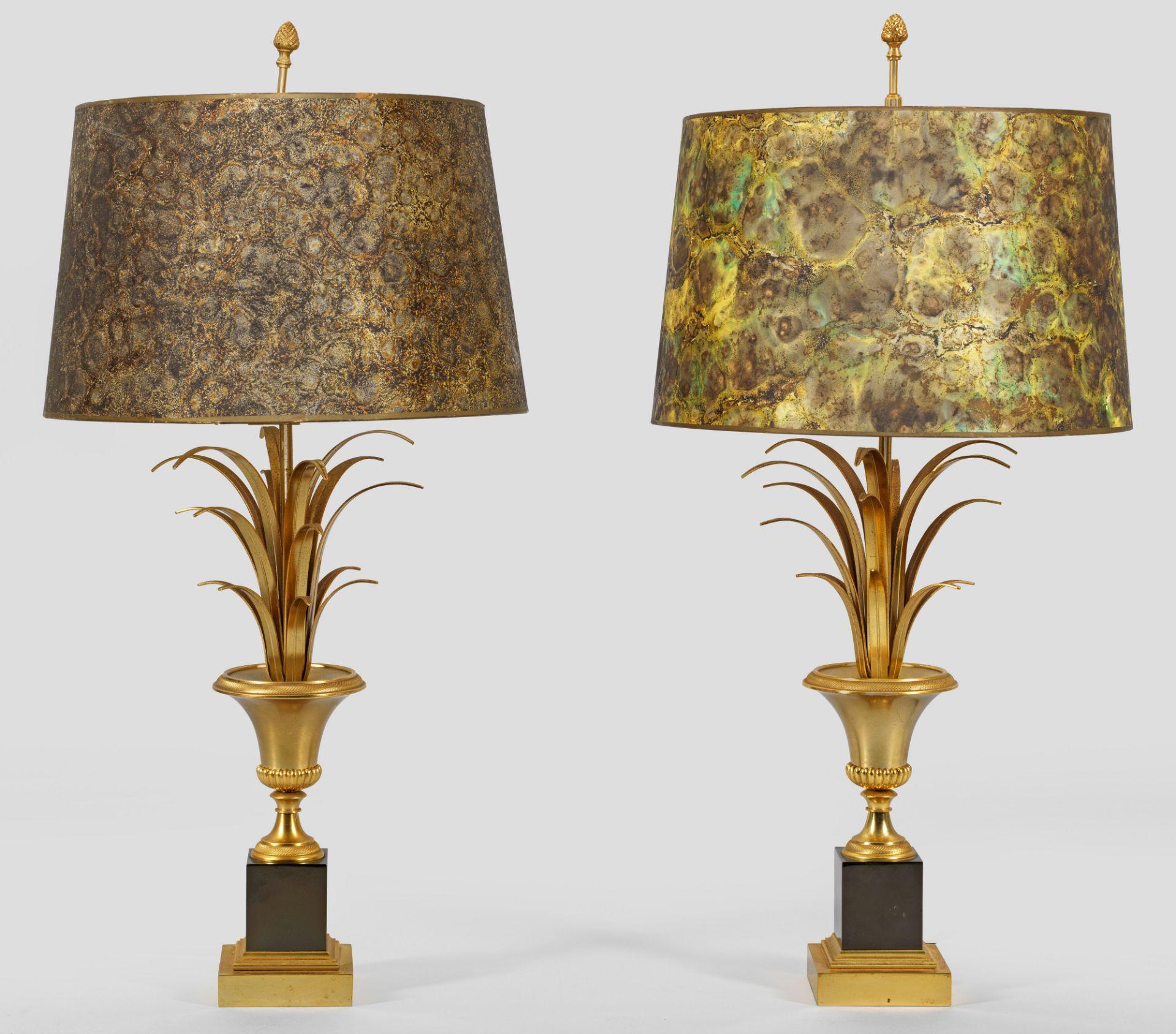 Zwei extravagante Tischlampen im Stil von Maison Jansen