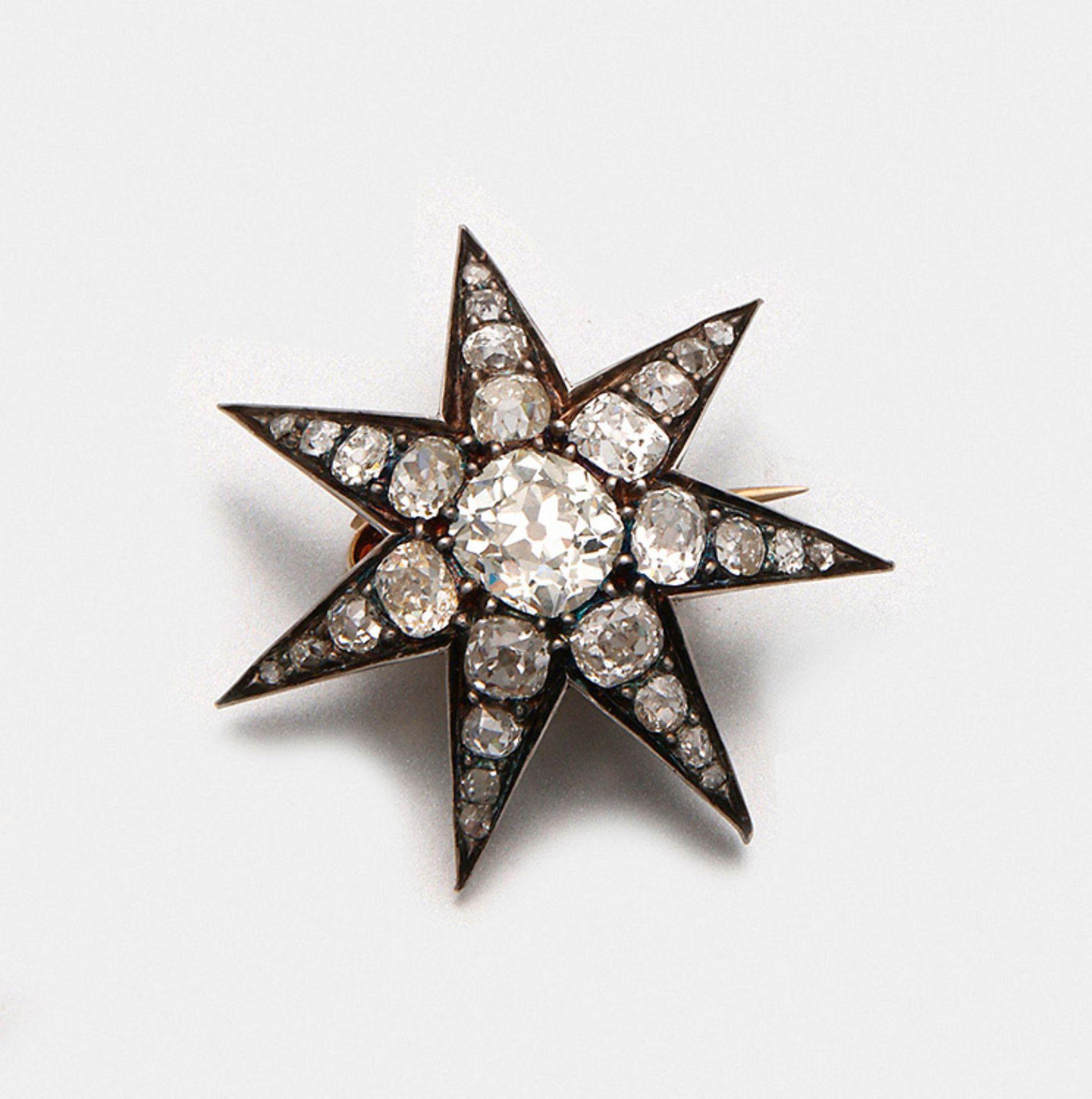 Belle Epoque-Sternbrosche mit Diamanten