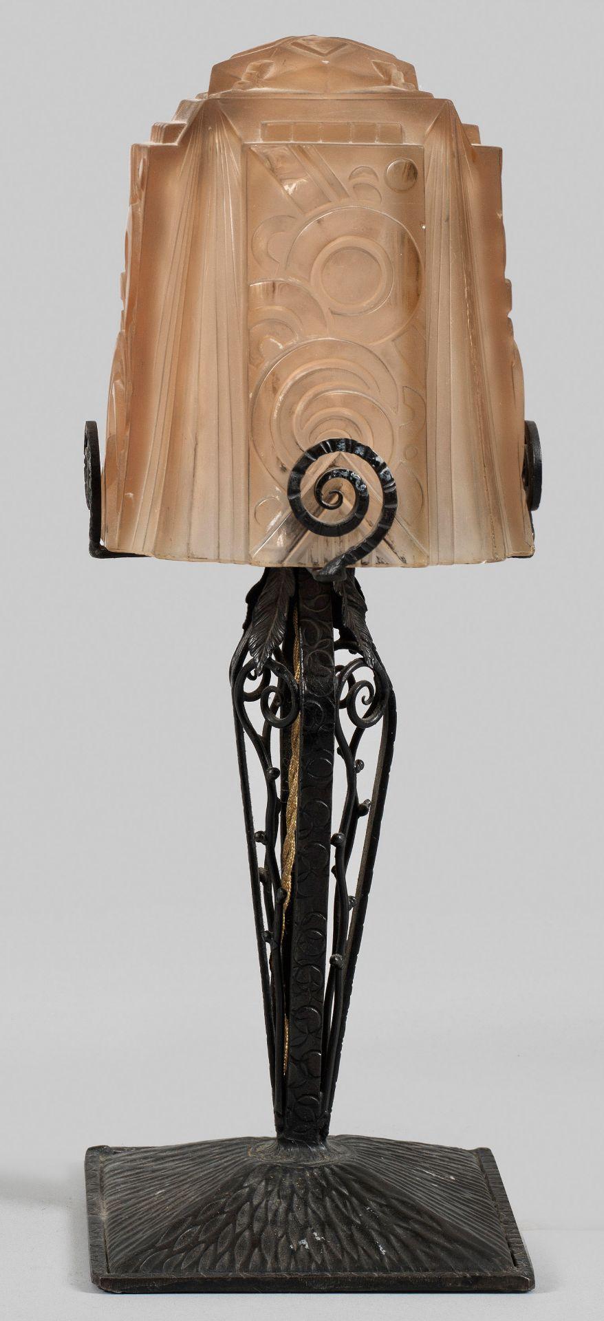 Art Déco-Tischlampe von Muller Frères