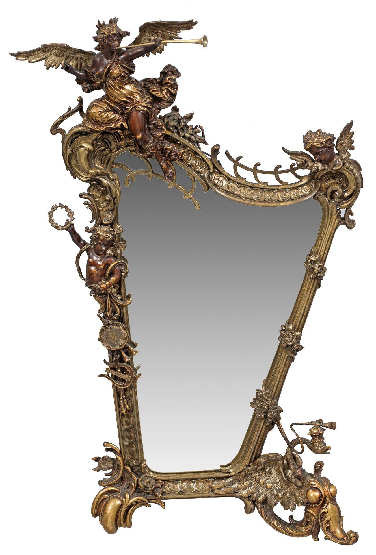 Prachtvoller Belle Epoque-Spiegel