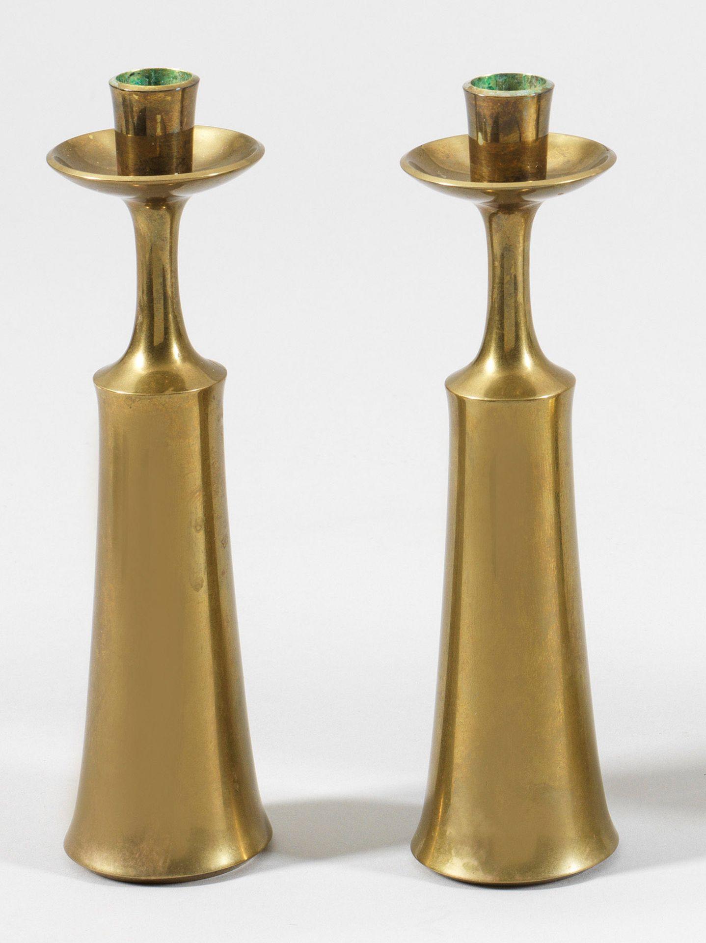 Paar Mid Century-Kerzenleuchter von J. H. Quistgaard