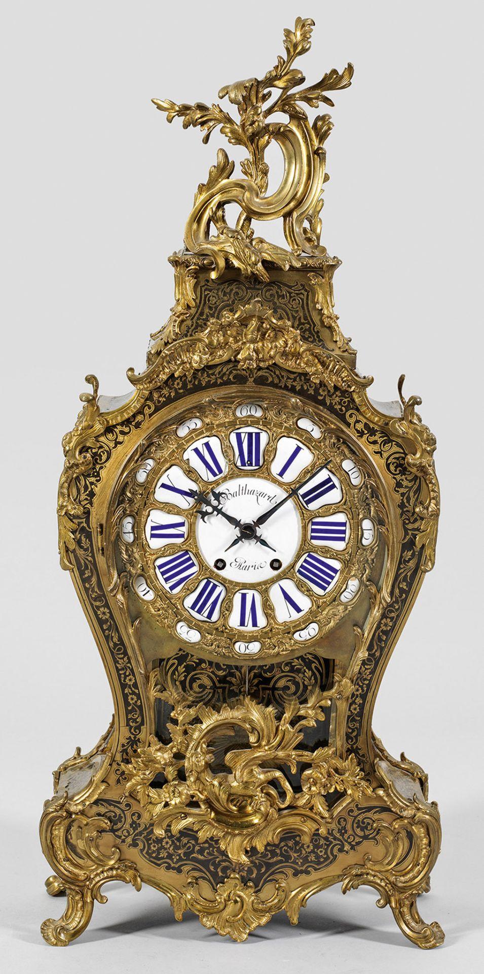 Große Louis XV-Boulle Pendule