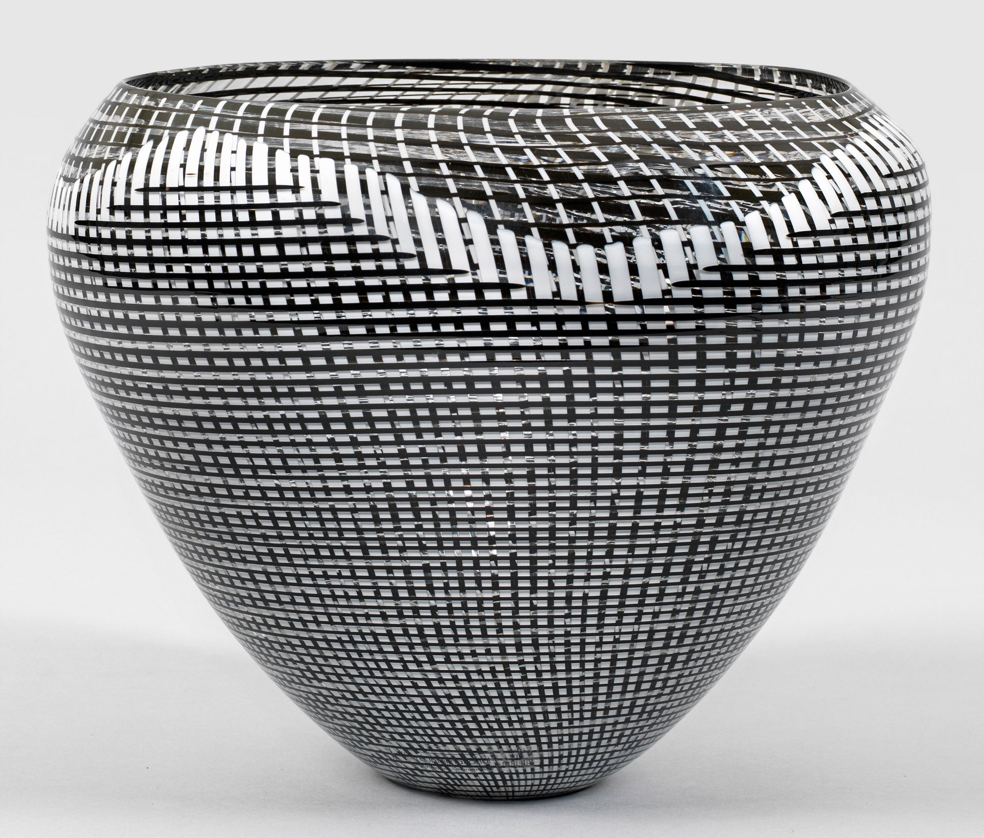 "Seltene ""Tessuto""-Vase von Lino Tagliapietra"