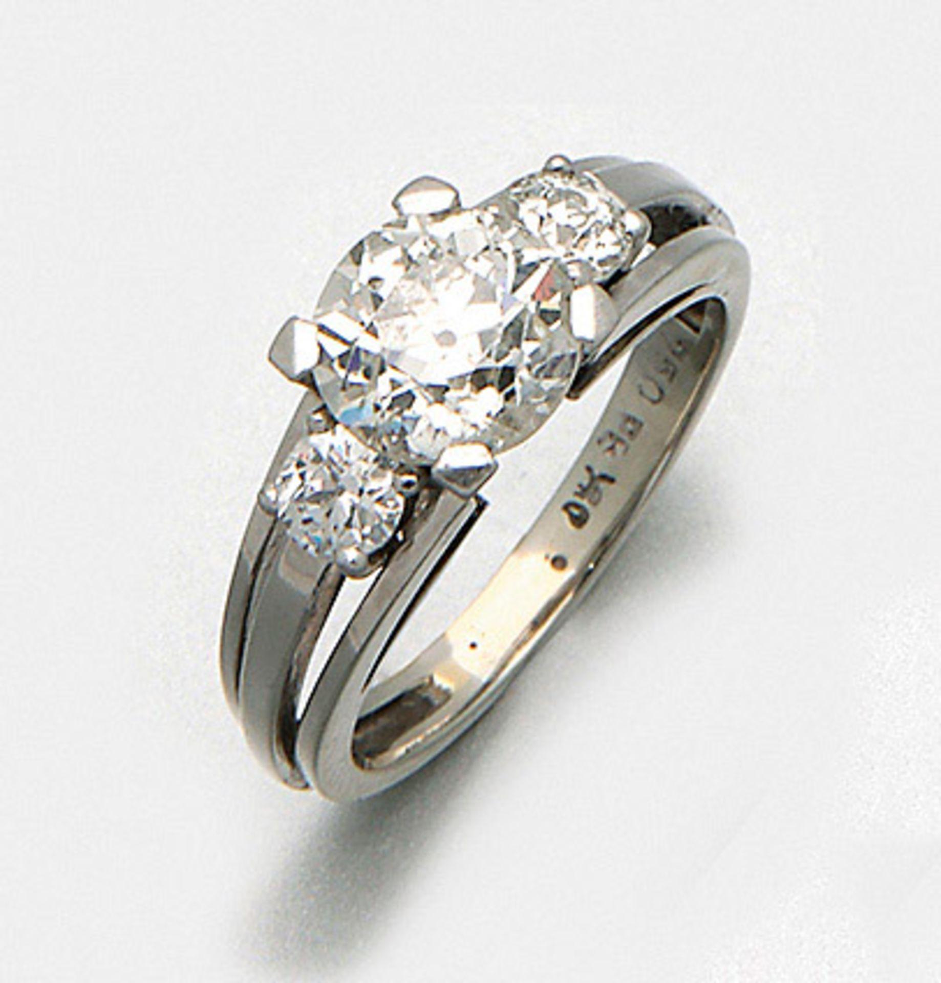 Diamantsolitärring aus den 60er Jahren