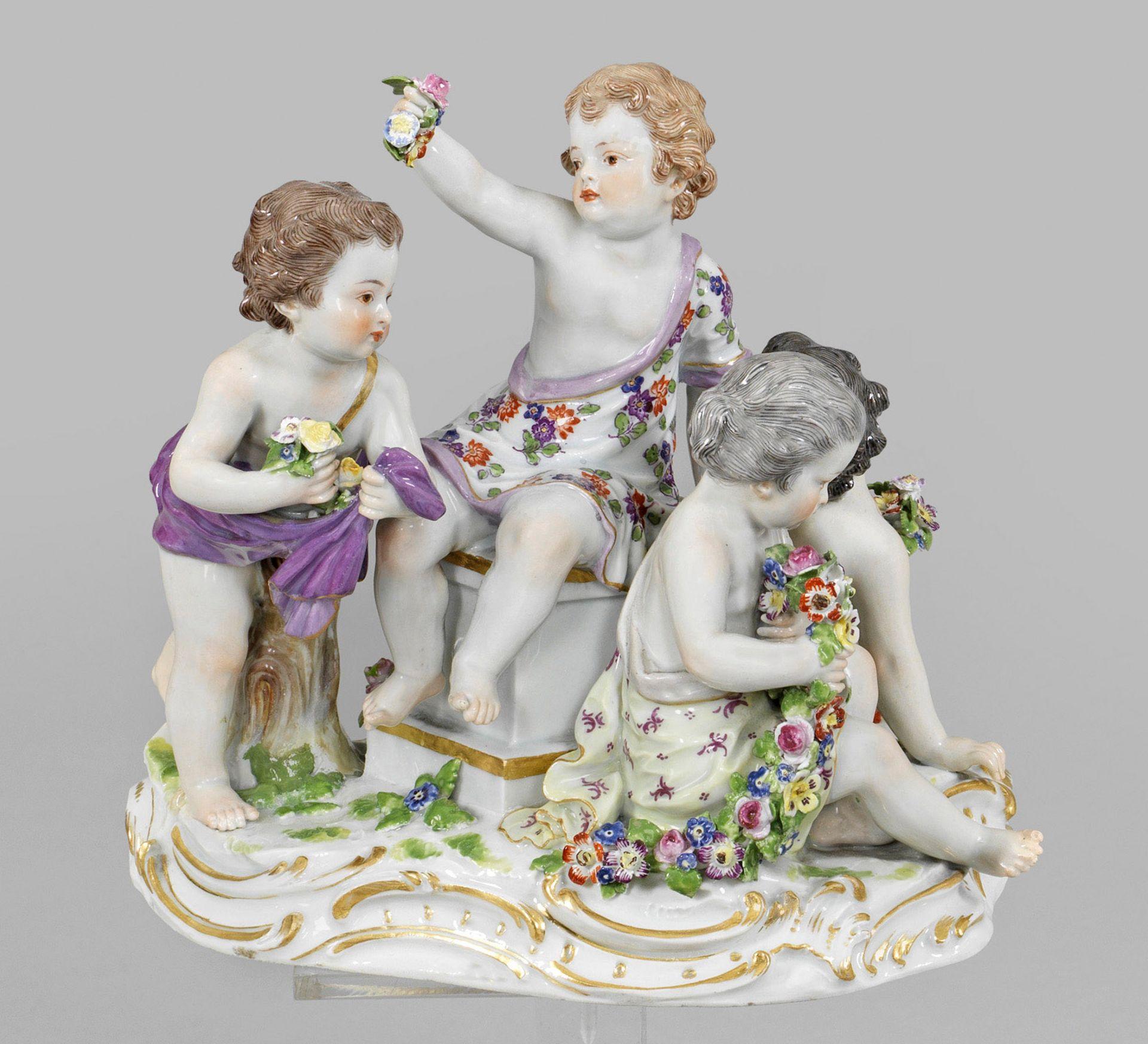Amorettengruppe als Allegorie des Frühlings
