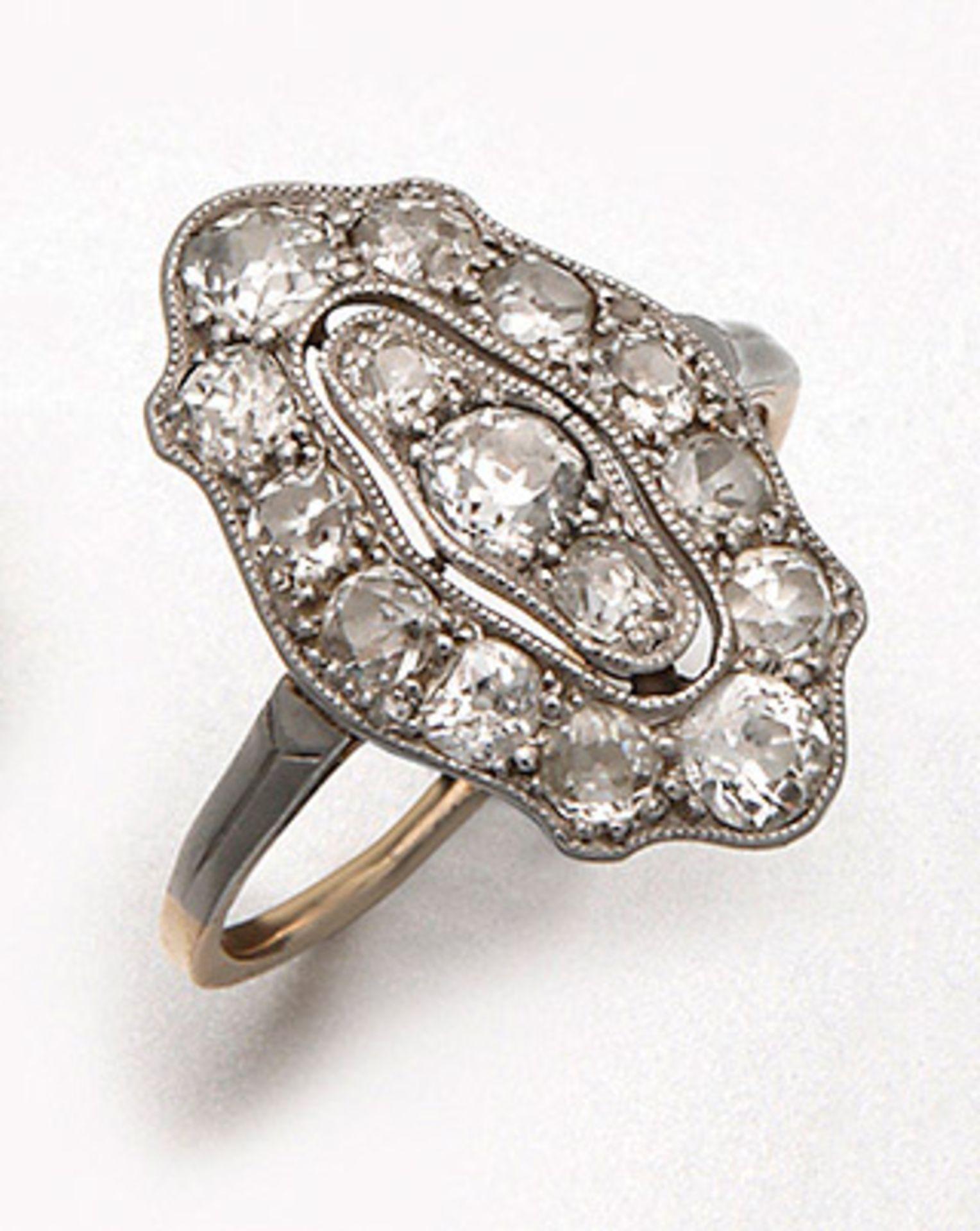 Jugendstil-Marquise-Diamantring