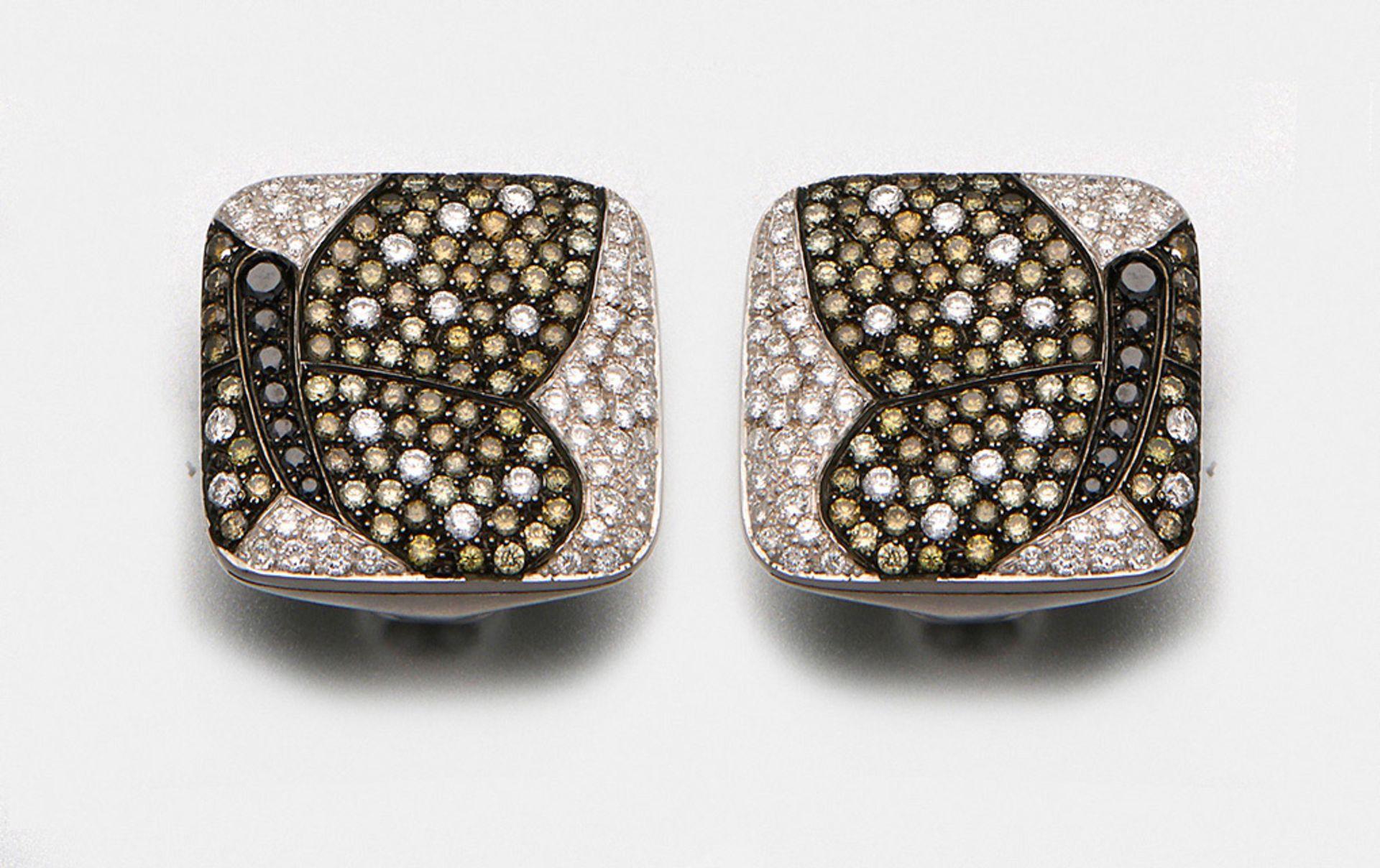 Paar Diamant-Ohrclips von Cavello