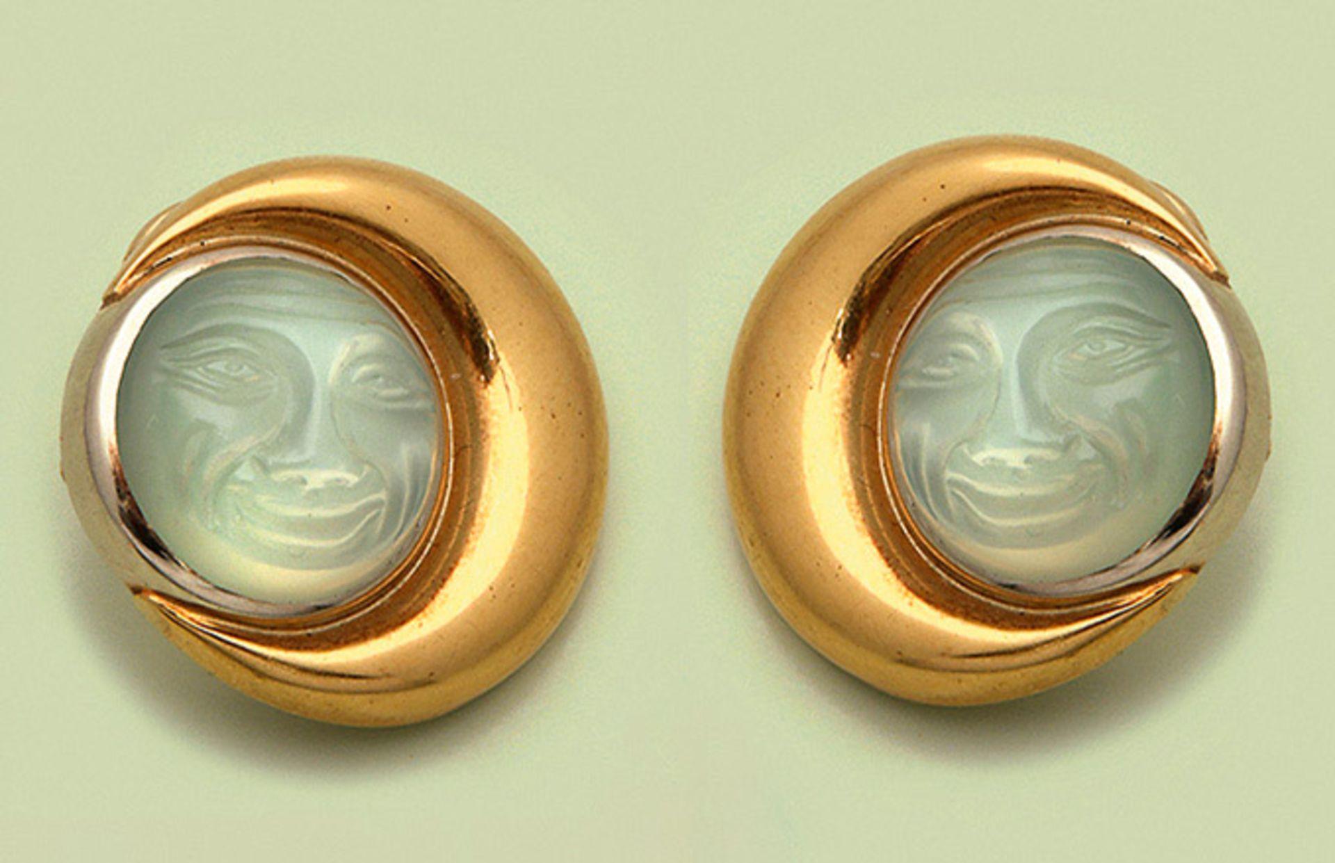 Paar Mondstein-Ohrringe von Colleen B. Rosenblat, Hamburg