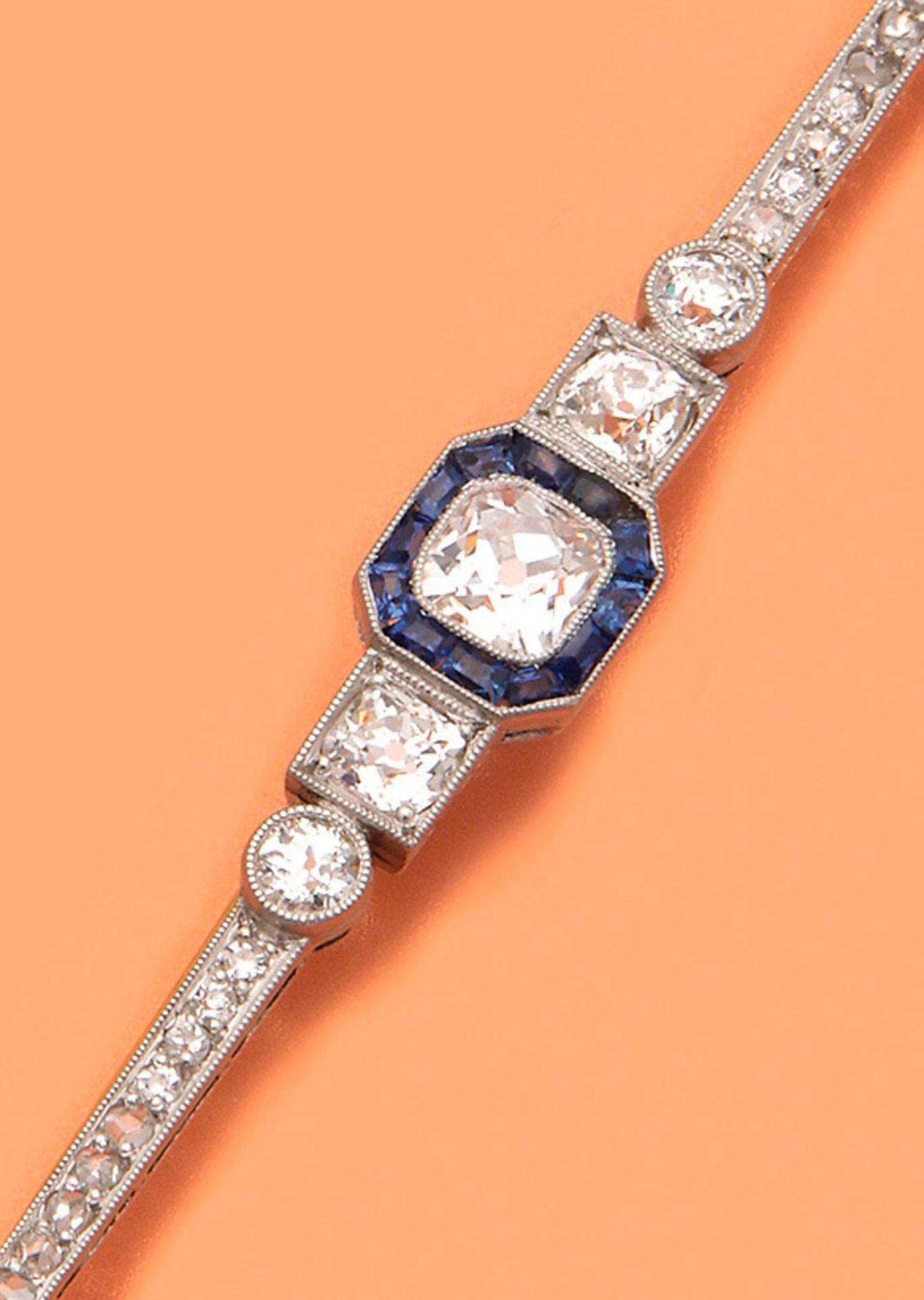 Art Déco-Nadel mit Diamanten