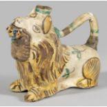 Öllampe in Löwenform