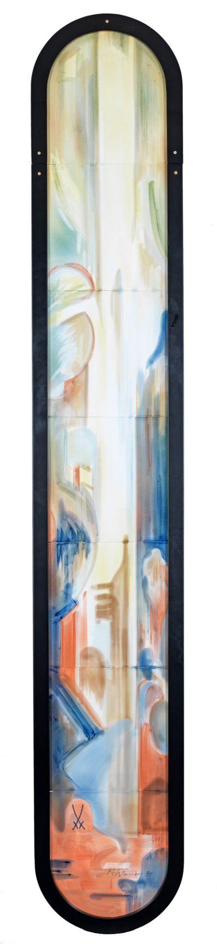 """Große Wanddekoration """"Farbige Abstraktion"""""""