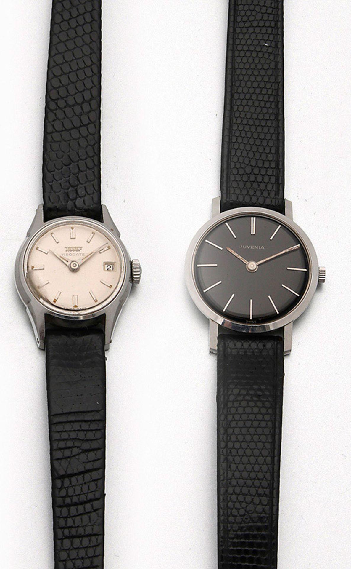 Zwei Damenarmbanduhren von Tissot bzw. Juvenia