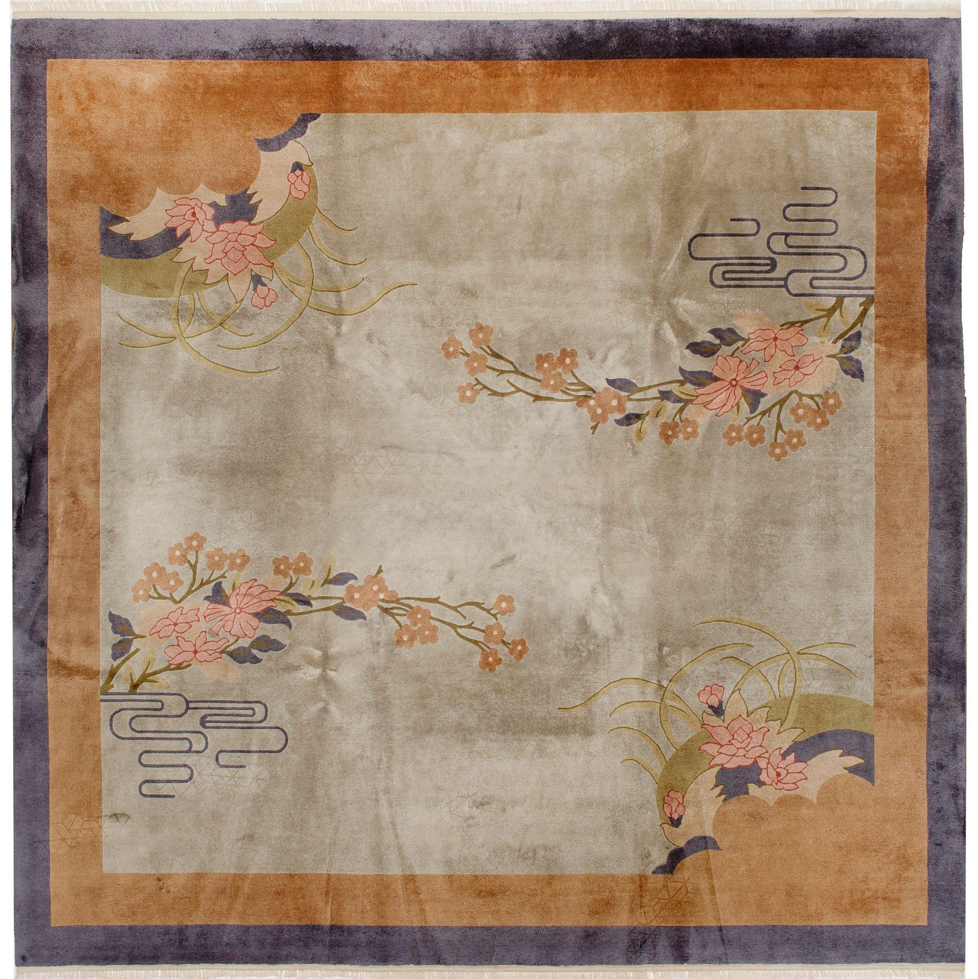 Dekorativer chinesischer Seidenteppich
