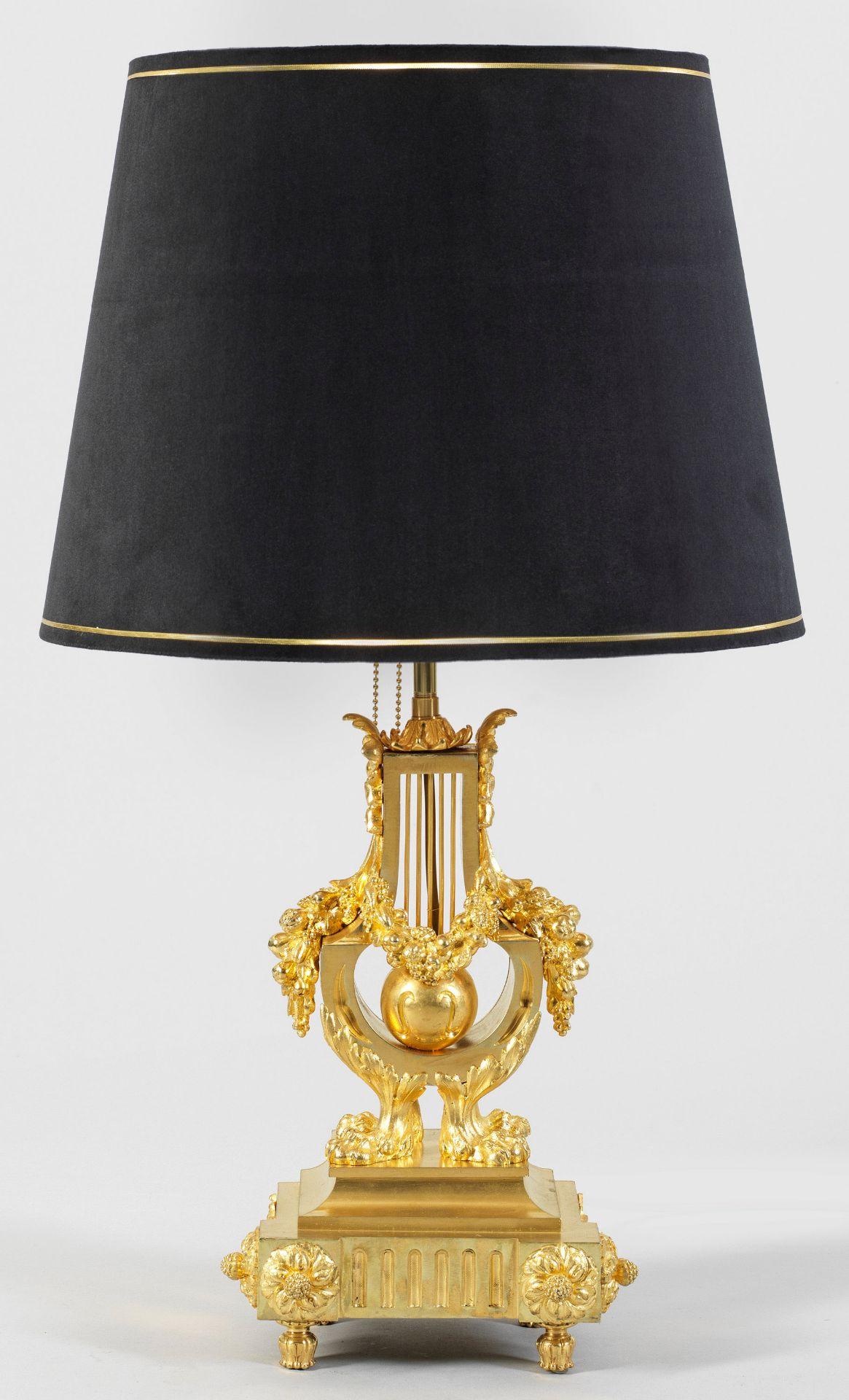 Große Napoleon III-Tischlampe