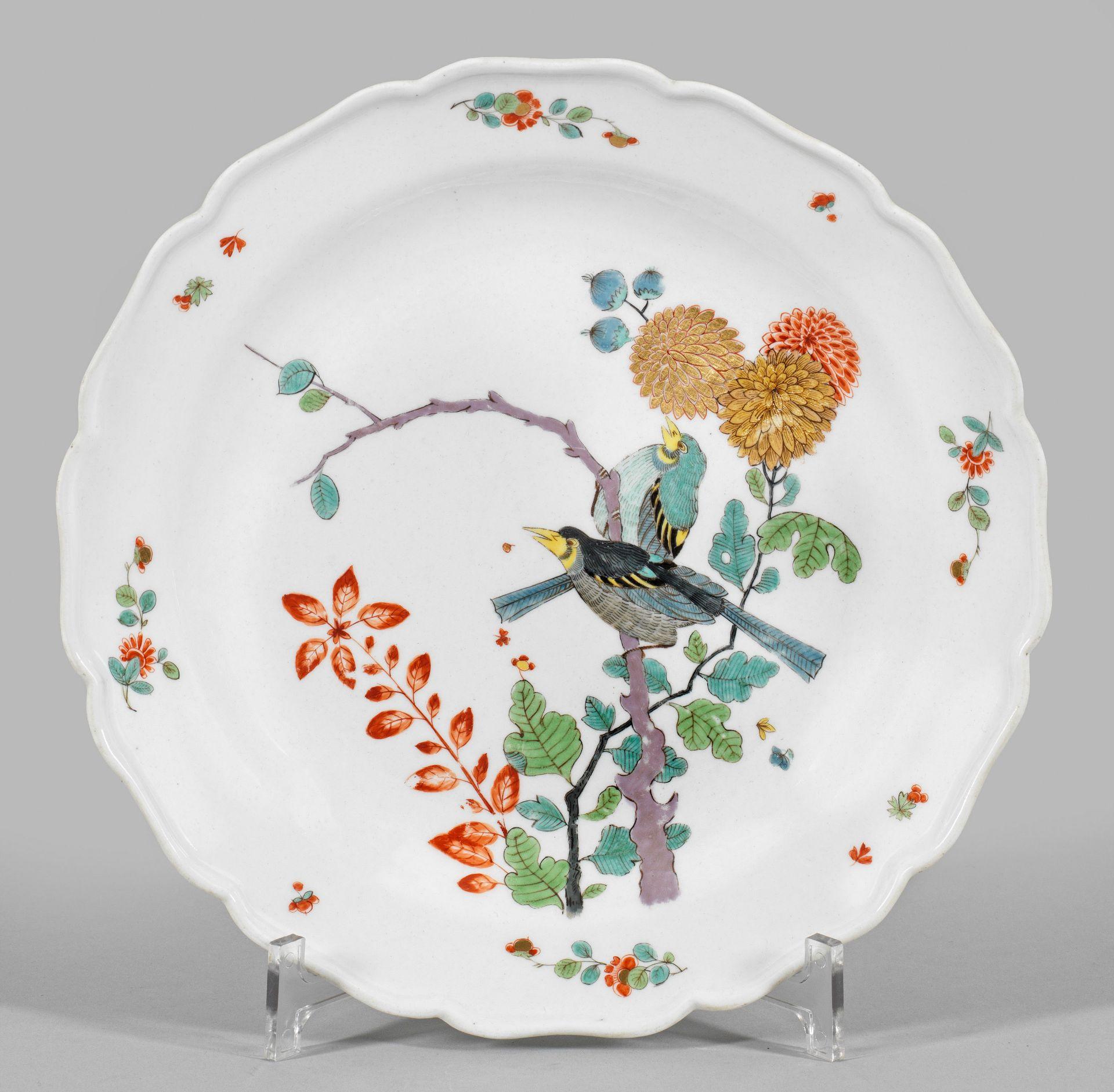Zierteller mit Vogelbaum-Dekor