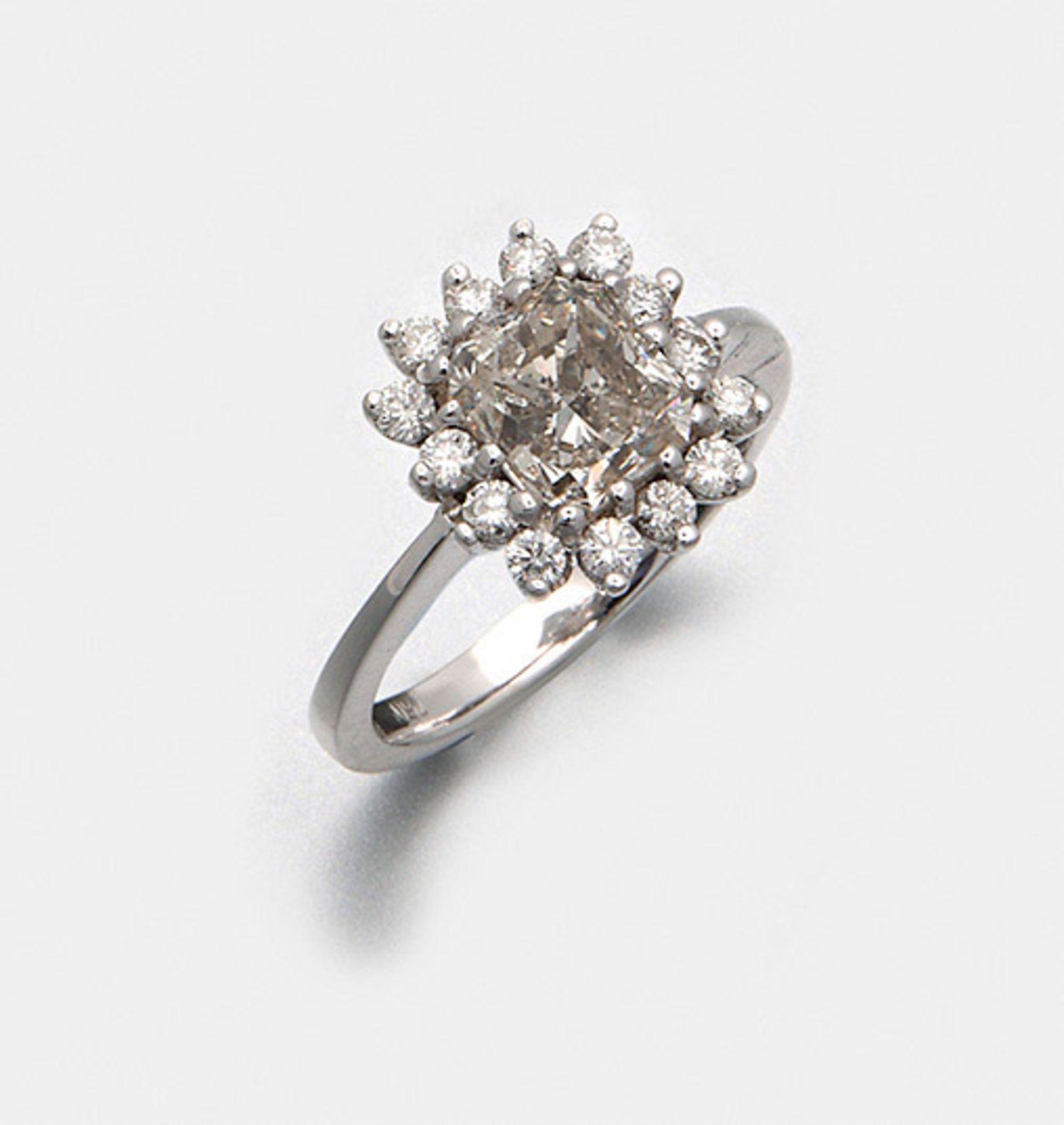 Eleganter Diamant-Solitärring