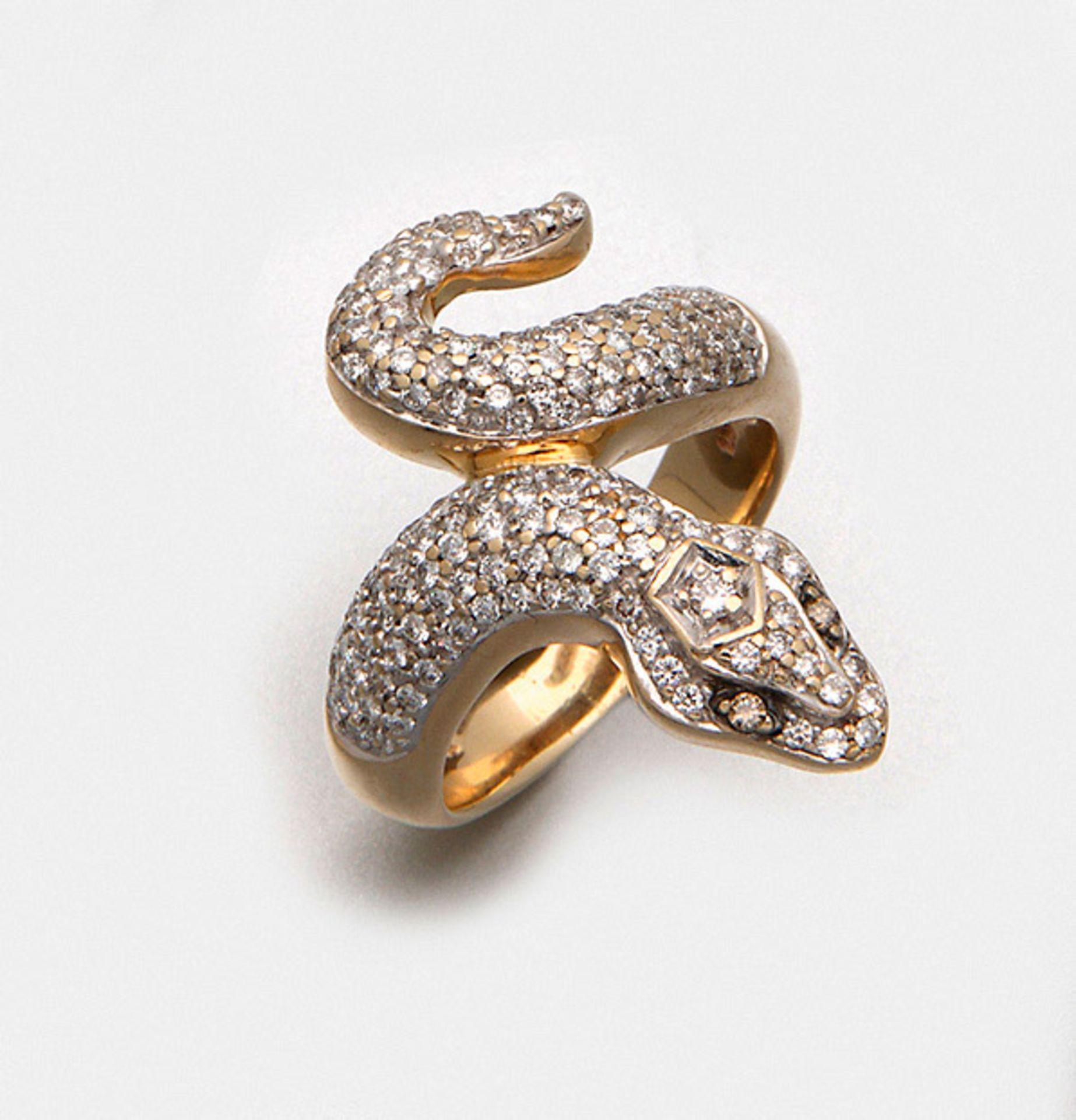 Diamant-Schlangenring