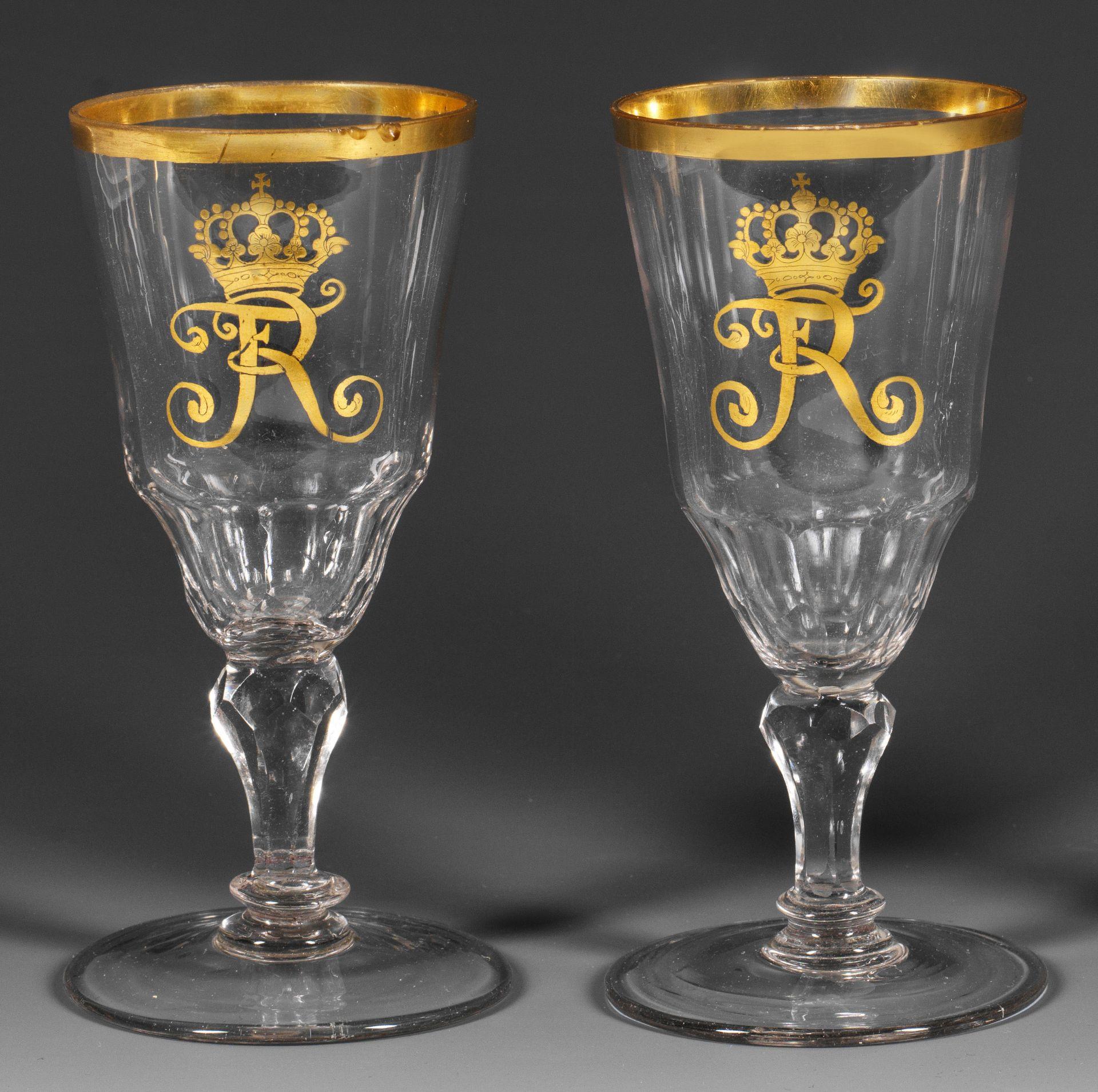 Zwei Pokale mit Monogramm König Friedrich II. v. Preußen