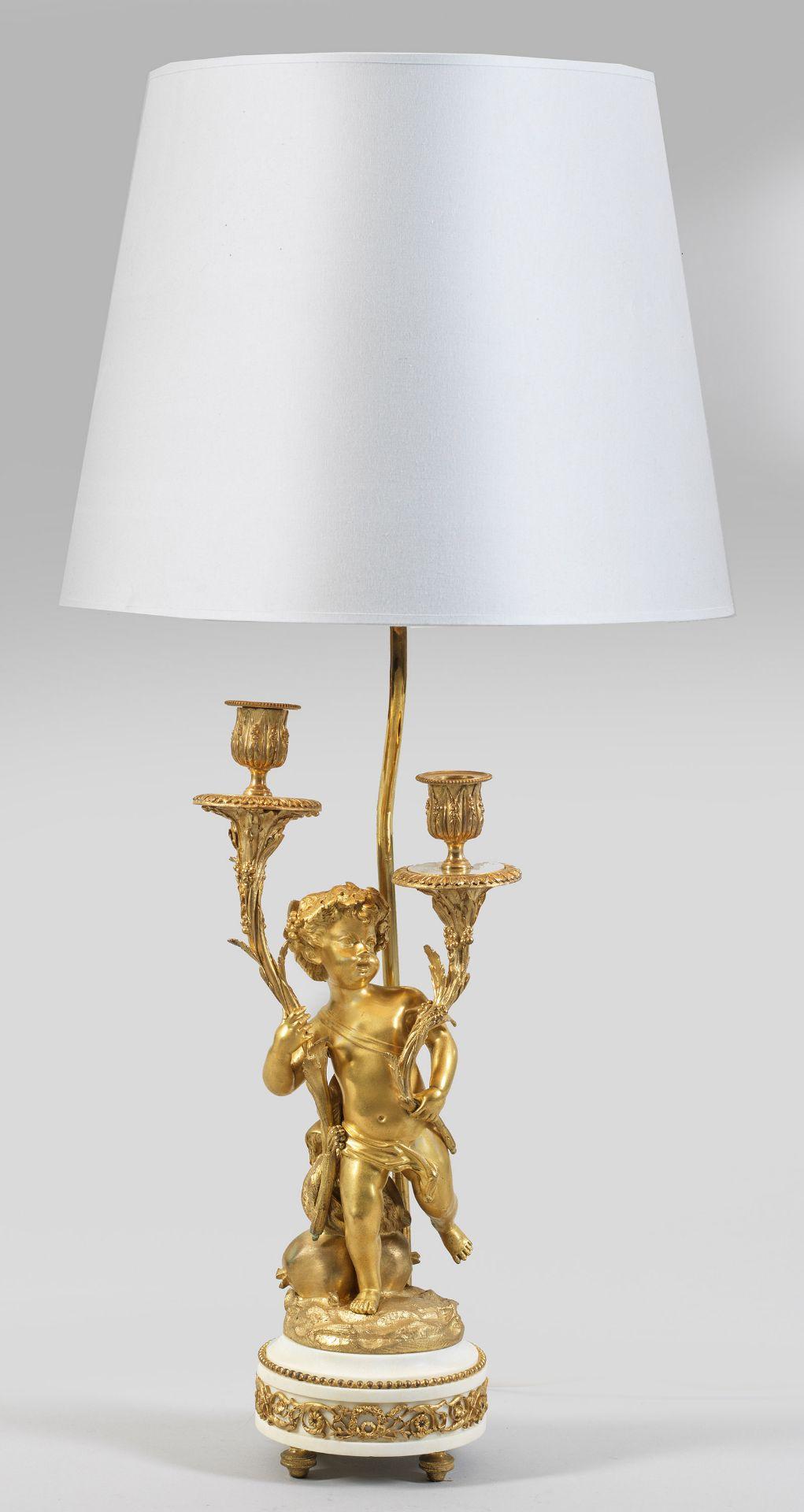 Große Louis XV-Tischlampe