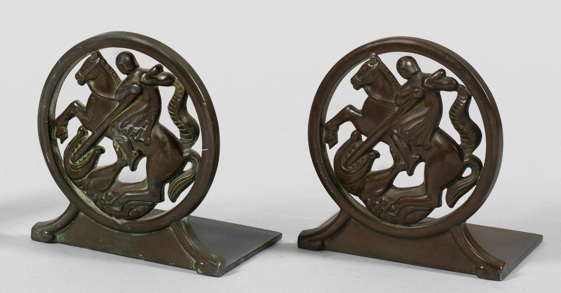 Paar kleine Art Déco-Buchstützen von Just Andersen