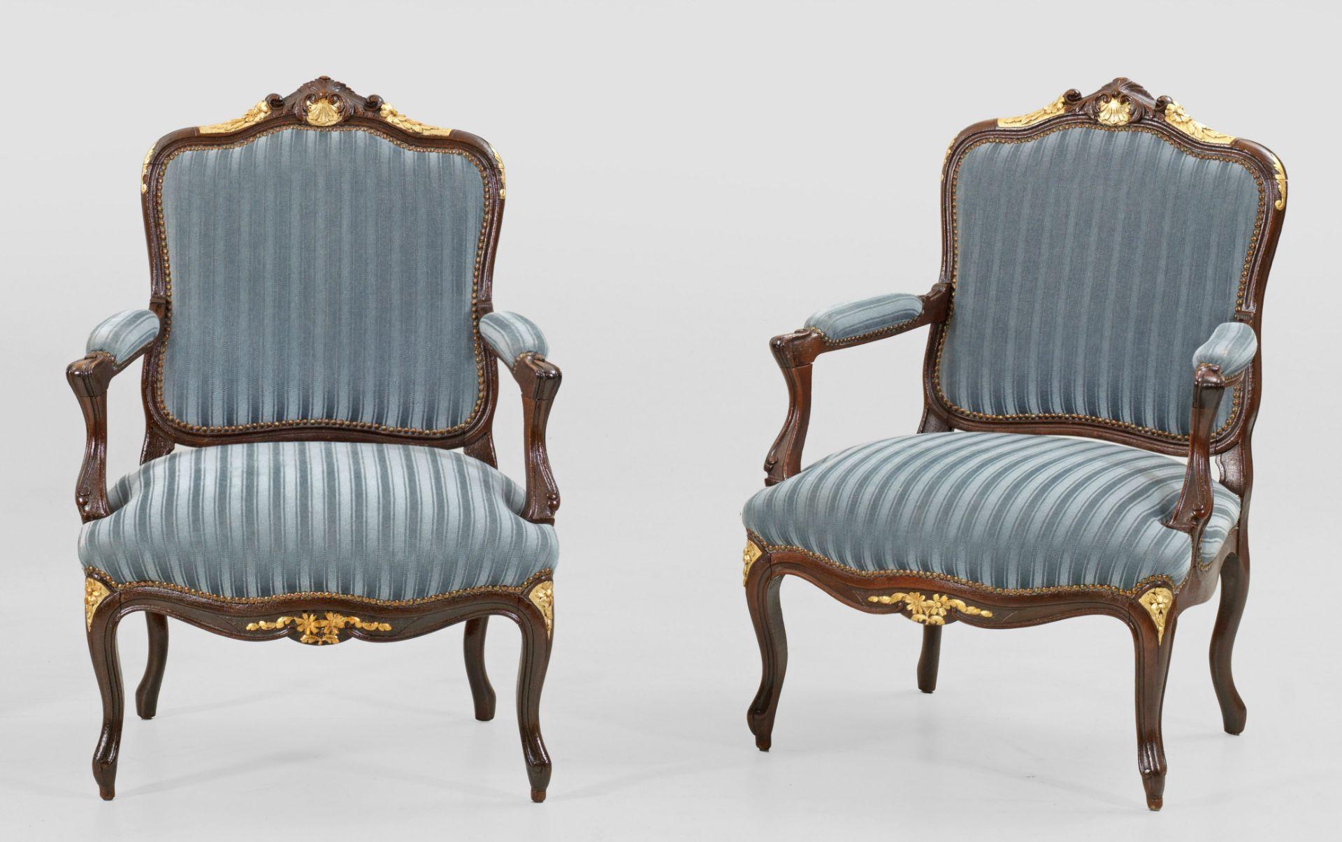 Paar Louis XV-Armlehnsessel