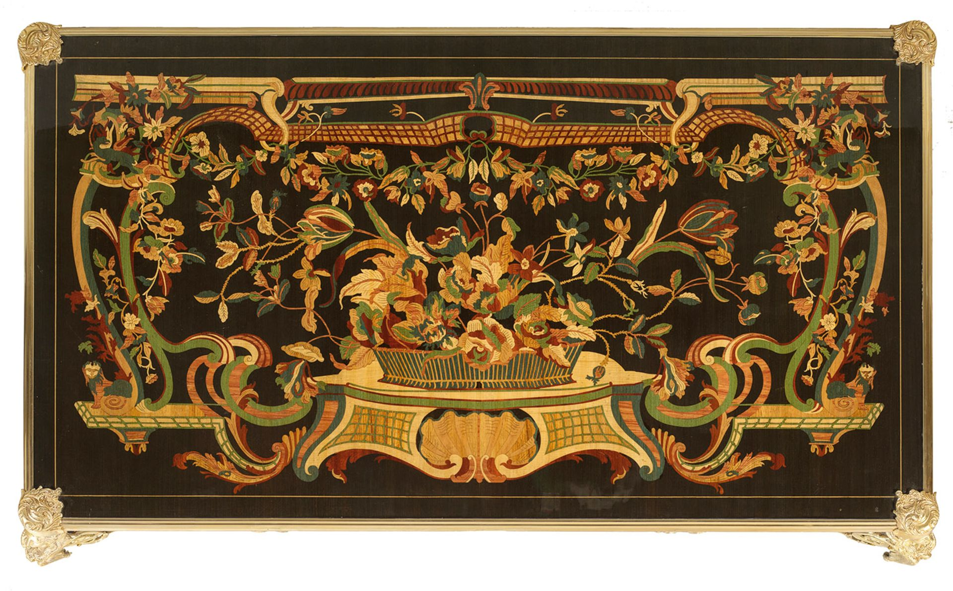Repräsentatives Bureau plat im Louis XV-Stil - Bild 2 aus 2