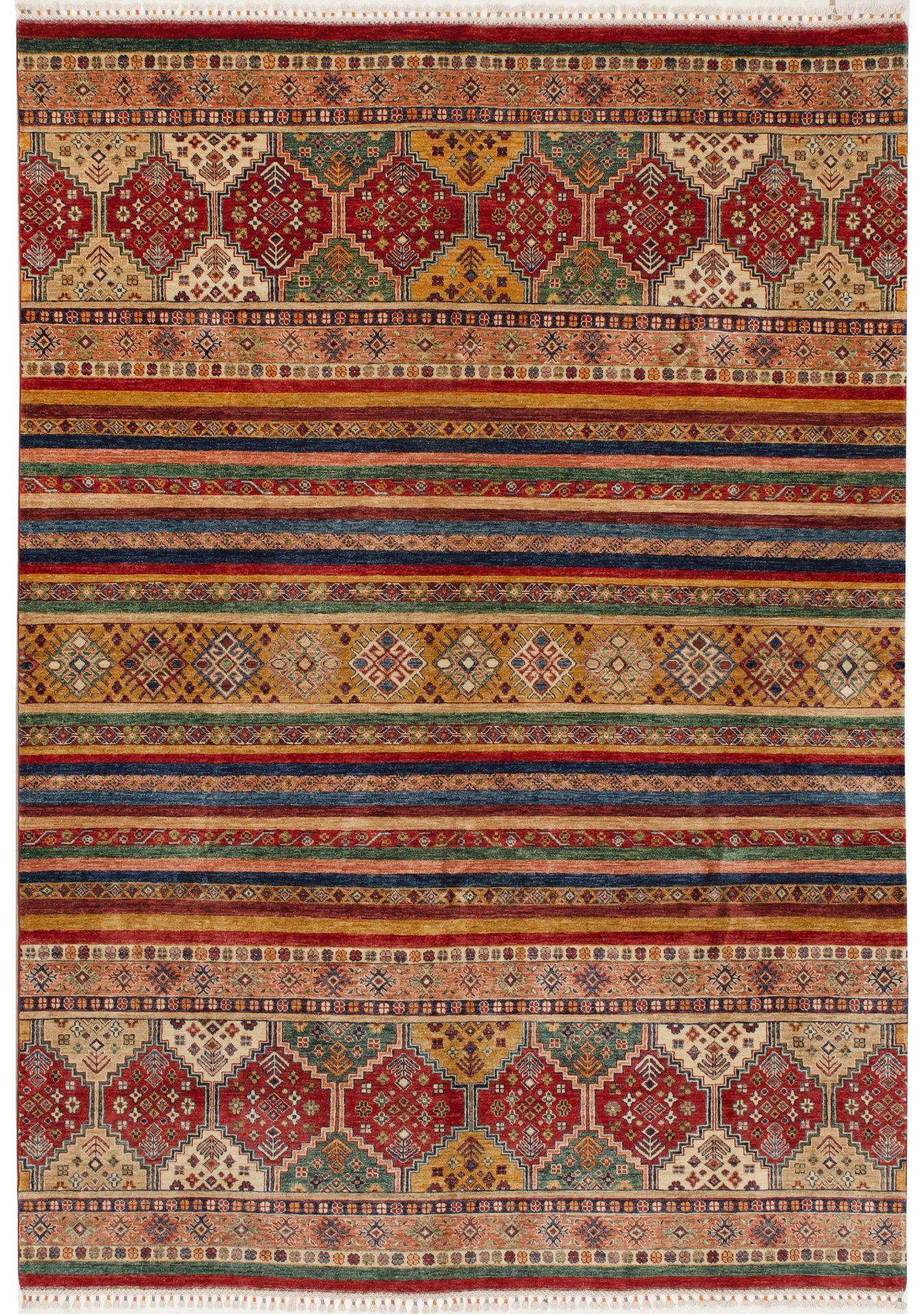 Großer Afghan-Streifenteppich