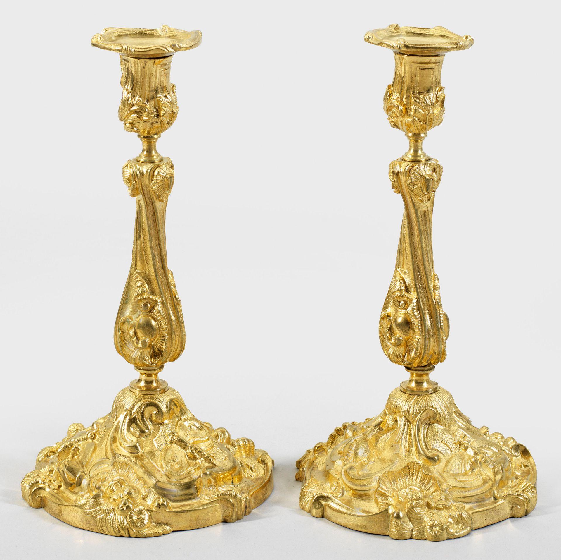 Paar Tafelleuchter im Louis XV-Stil