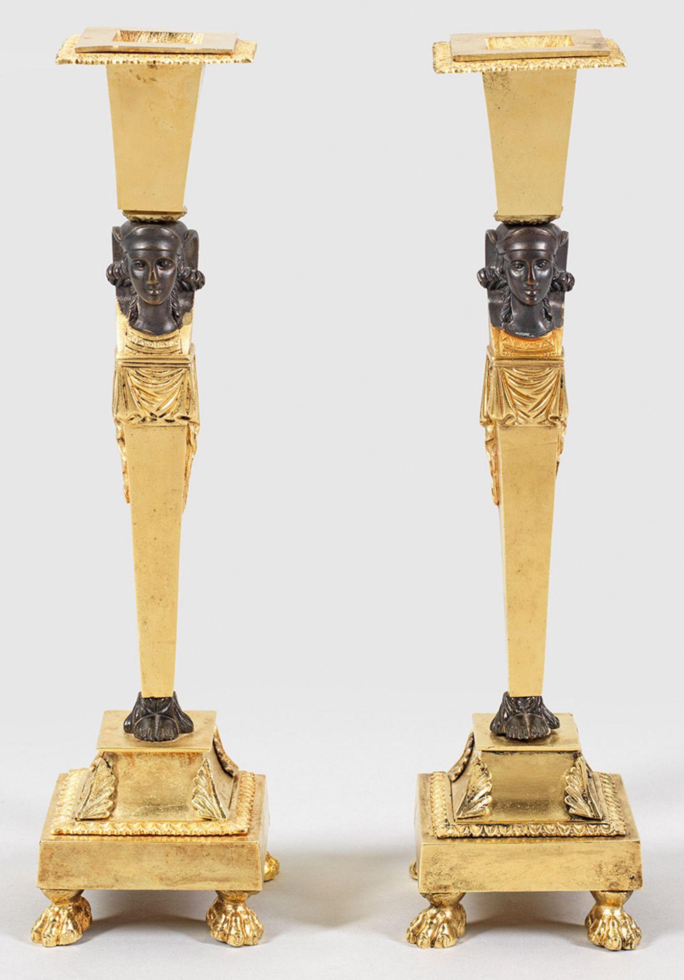 Paar Empire-Figurenleuchter