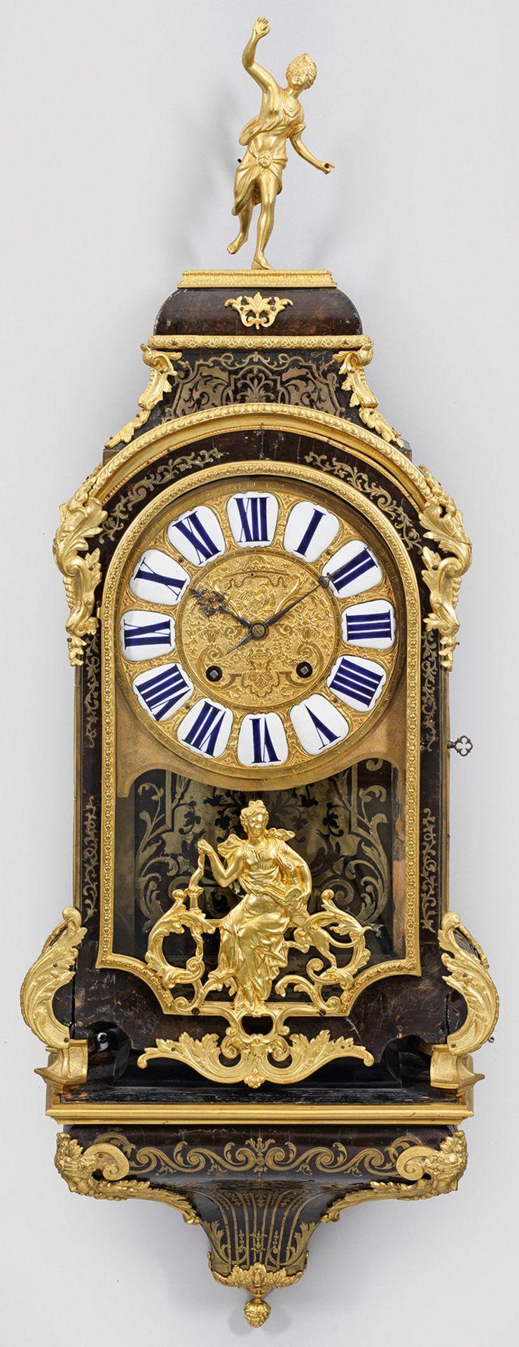 Große Louis XIV-Boulle Pendule mit Konsole