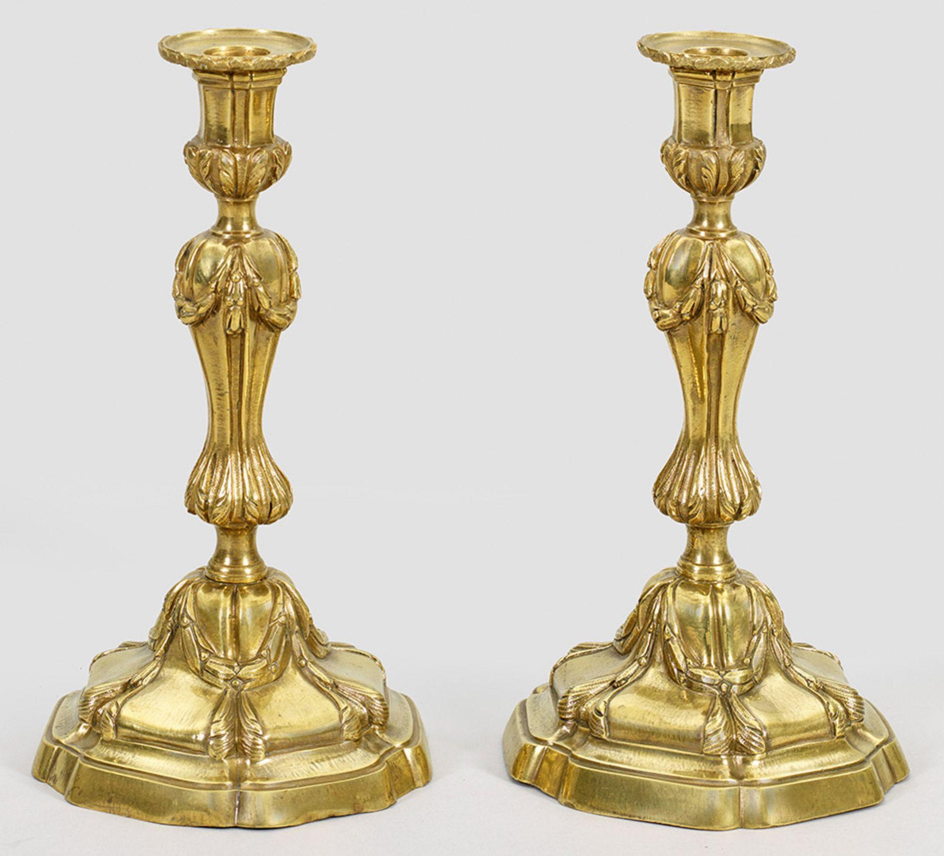 Paar Louis XV-Tafelleuchter