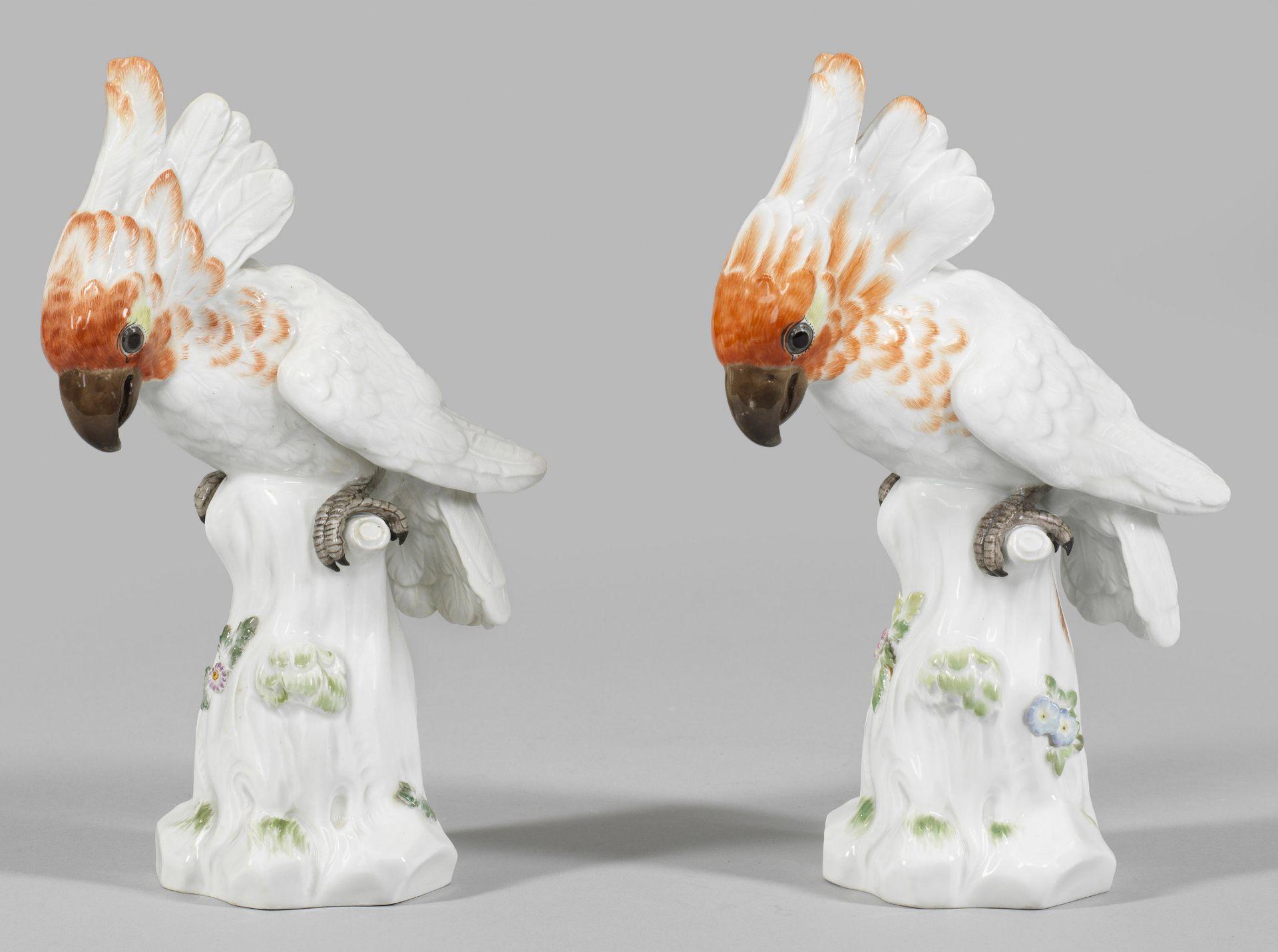 Paar Kakadu-Figuren