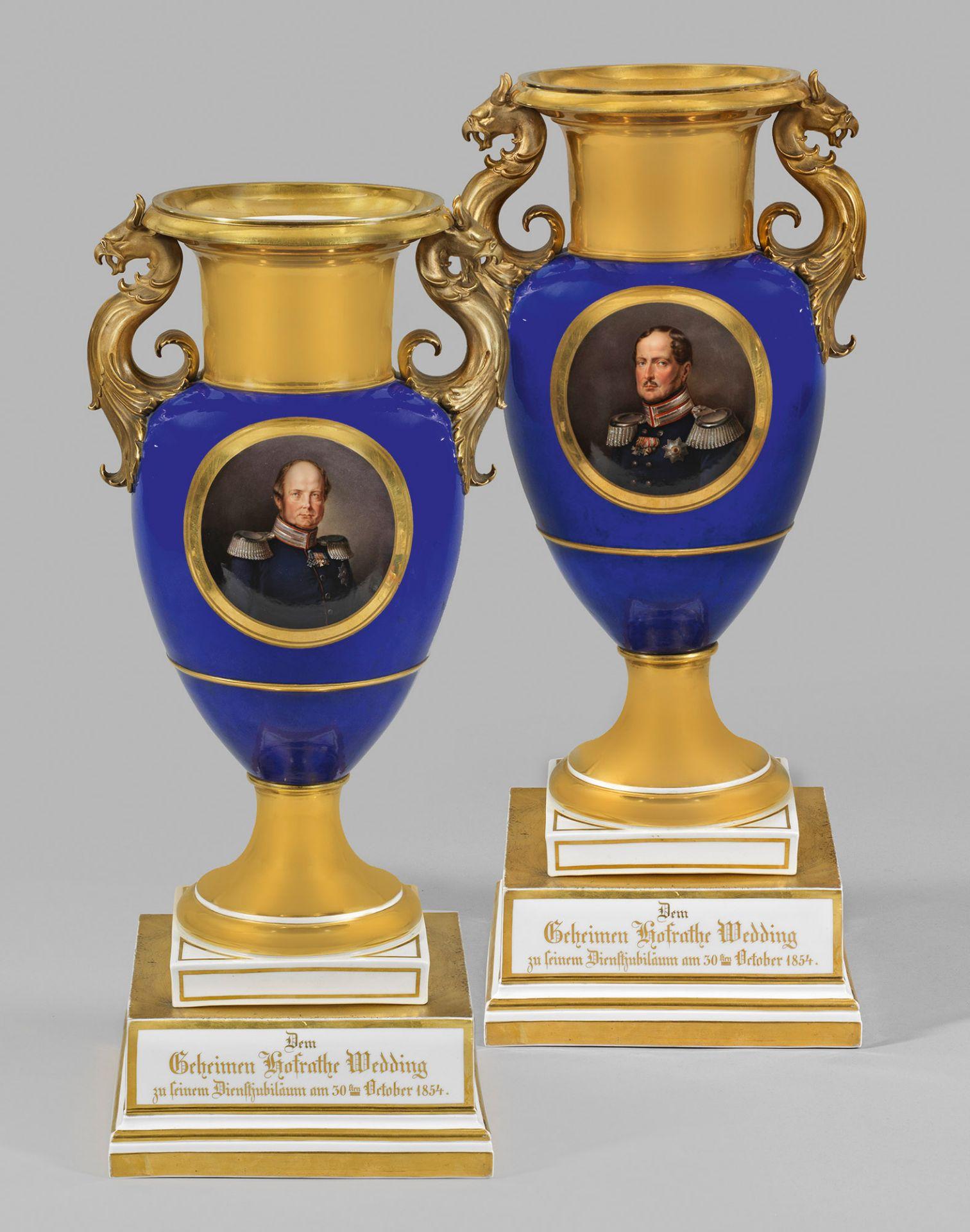 Prunkvolle Vase mit dem Porträt