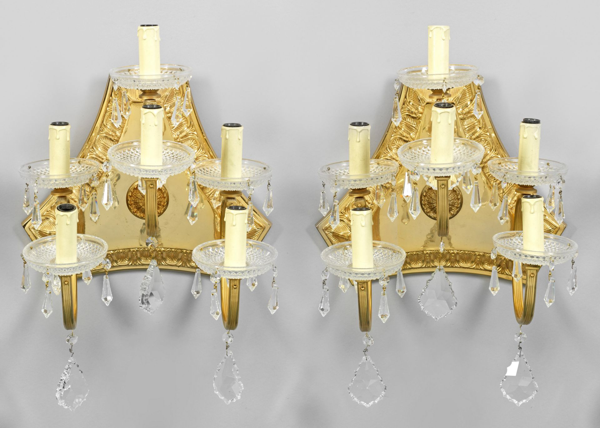 Paar dekorative Wandlampen