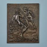 Plakette mit Venus und Amor
