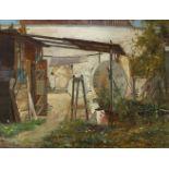 Ernst Albert Fischer-CörlinHinter der National Galerie zu Berlin im Jahre 1880