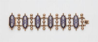 Historismus-Armband mit Emaildekor