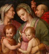 Andrea Sguazzella<BR>Die Heilige Familie mit der Heiligen Elisabeth und dem Johannesknaben