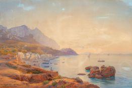 Salomon Corrodi<BR>Capri von der Marina Grande aus gesehen