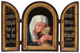 Gerard David, Umkreis<BR>Triptychon mit der Beweinung Christi