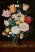 Jan Brueghel d. J.<BR>Jan Brueghel d. Ä.<BR>Stillleben mit Tulpen, Rosen, Narzissen, Vergissmeinnich