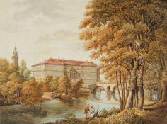 Henriette Wolfskeel von Reichenberg, zugeschrieben<BR>Schloss und Park in Weimar